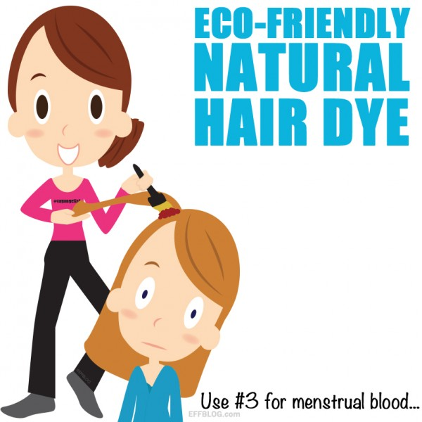 Use period blood for hair dye