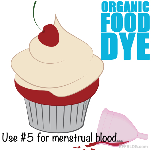 Use period blood for food dye