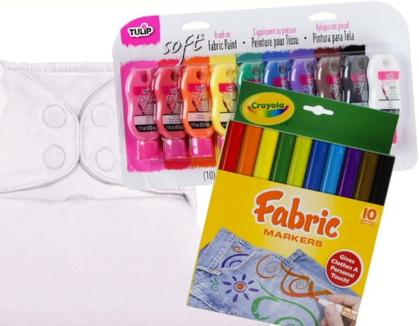 Markers and Paints for Drawing on Cloth Diapers