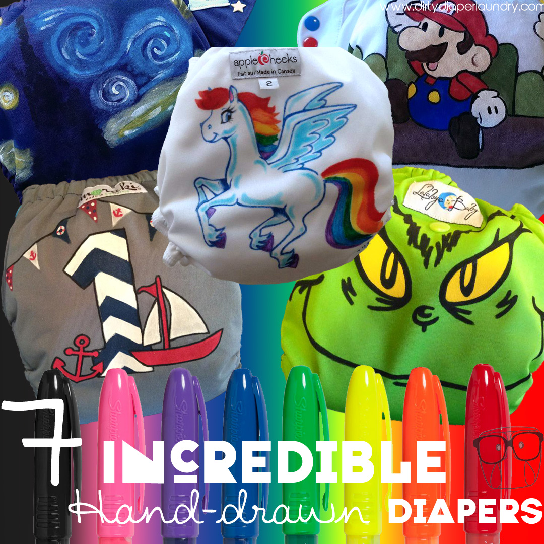 7 Incredible Hand-Drawn Cloth Diapers