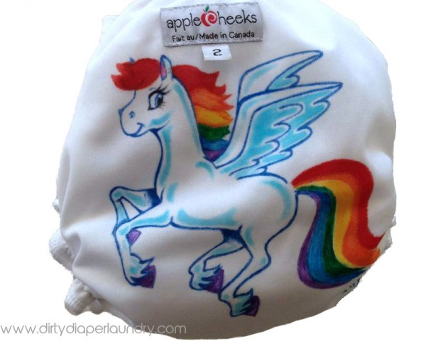 Unicorn Applecheeks Cloth Diaper
