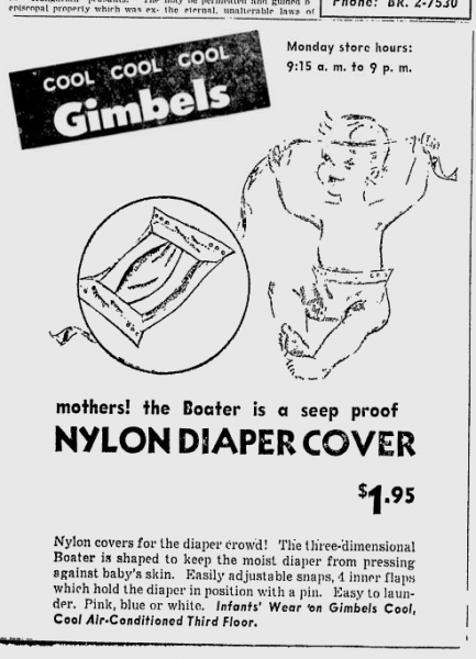 Gimbels Boater advertisement