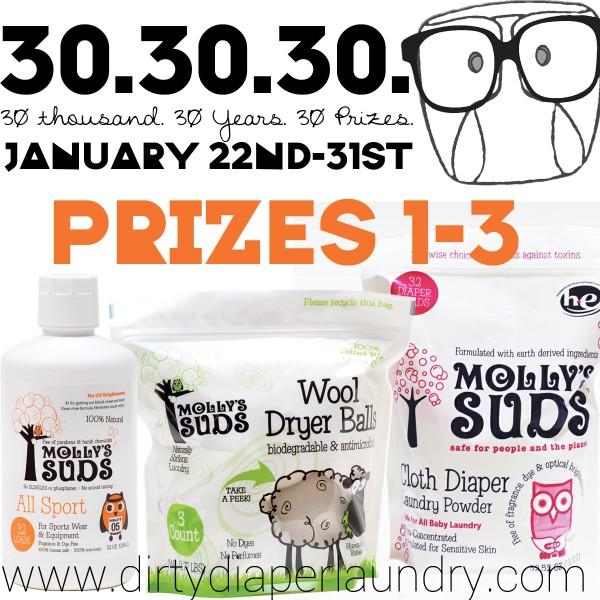 Introducing Prizes 1-3 from Molly's Suds for 30.30.30