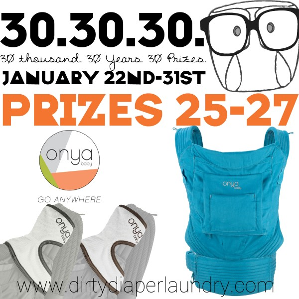 Announcing Prizes 24-27 from Onya Baby!