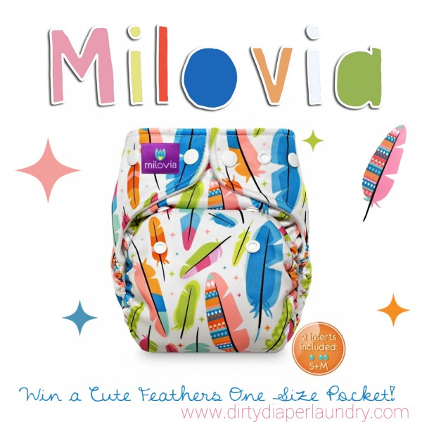 Win it!  Milovia One Size Pocket in Cute Feathers!