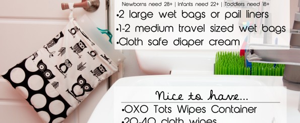 Supplies needed to get started with cloth diapers
