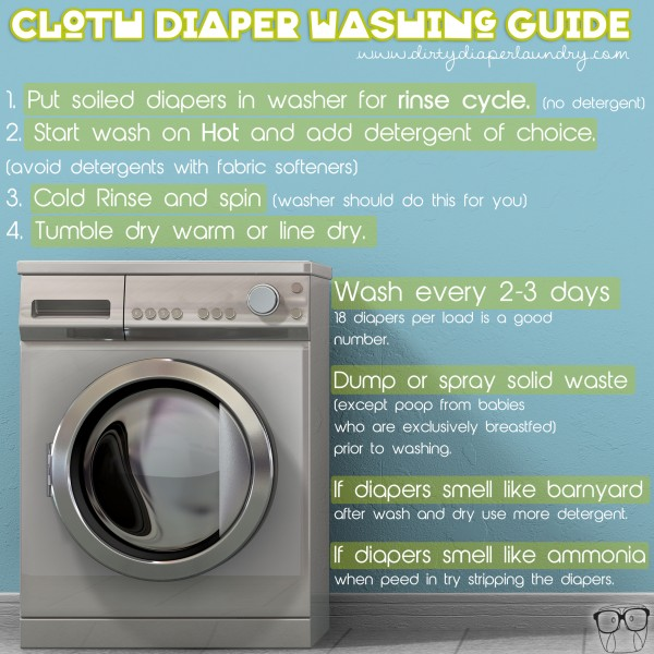 Simple cloth diaper washing instructions