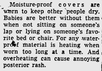 The Free Lance-Star, excerpt from advice column. 1942
