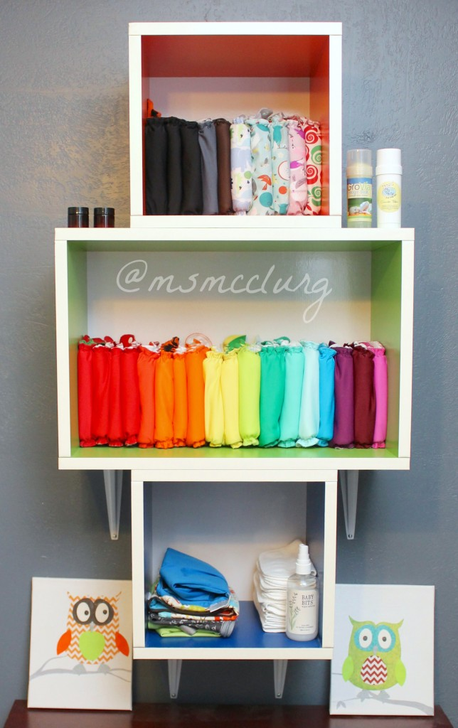 Space saving cloth diaper storage