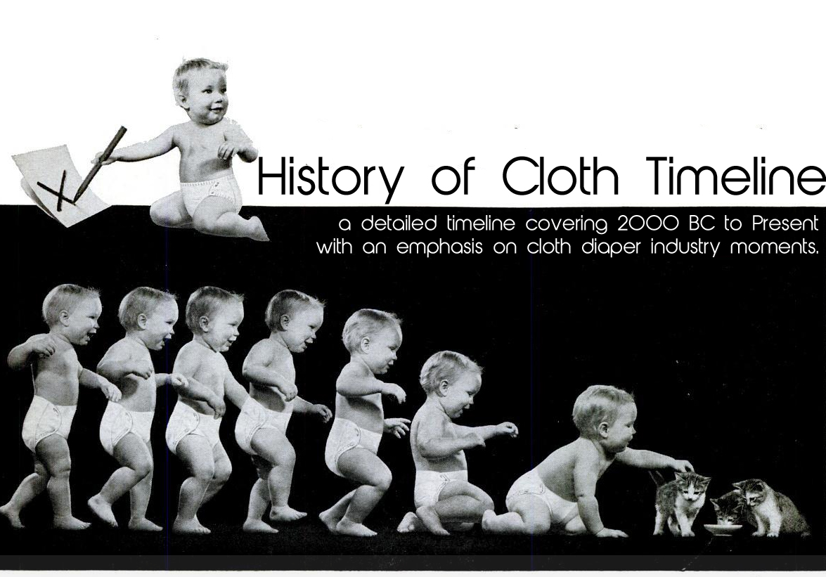The history of the first diapers