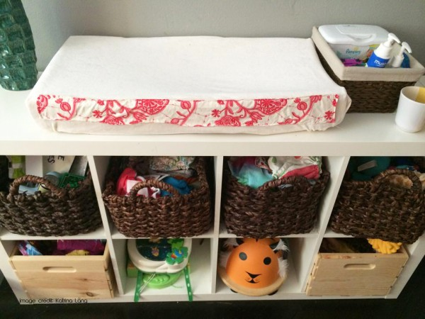 Ikea for cloth diaper storage