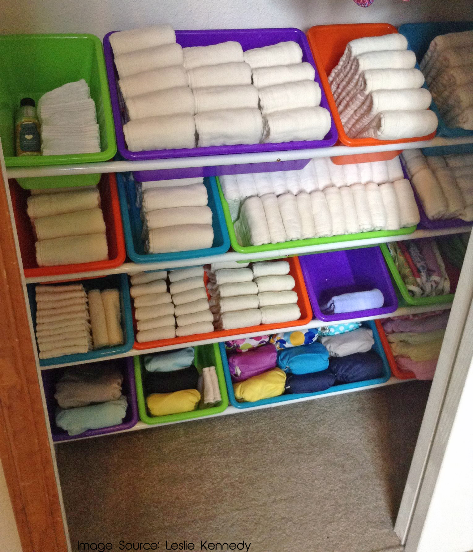 Toy organizer for cloth diapers