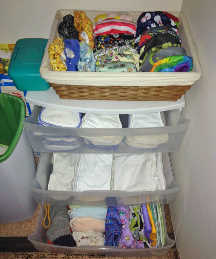 Cheap and effective storage for cloth diapers