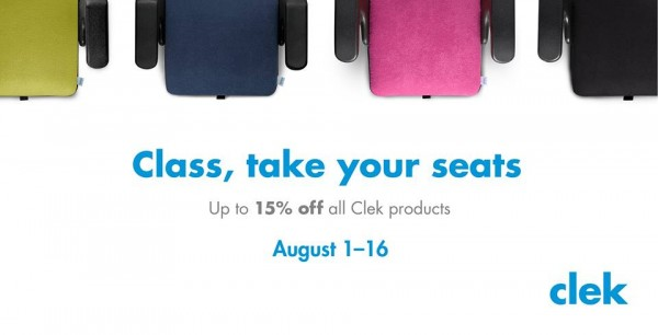 Back to school Clek Sale