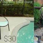 Mid Century for Less- DIY Tutorial for Painted Patio Chair