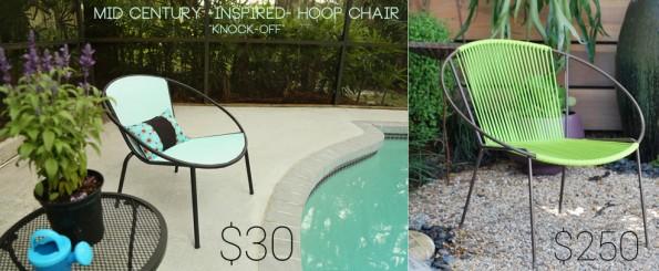 DIY Mid Century Modern Hoop Chair Knock-Off