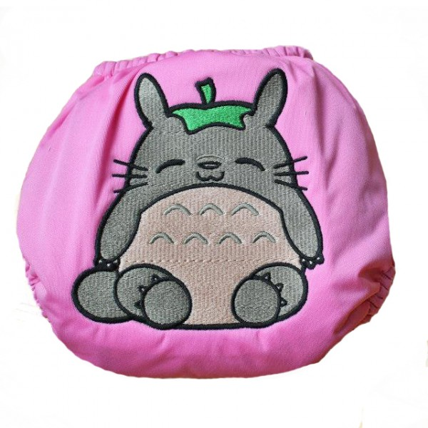 Totoro cloth diaper by Little Butts Diapers