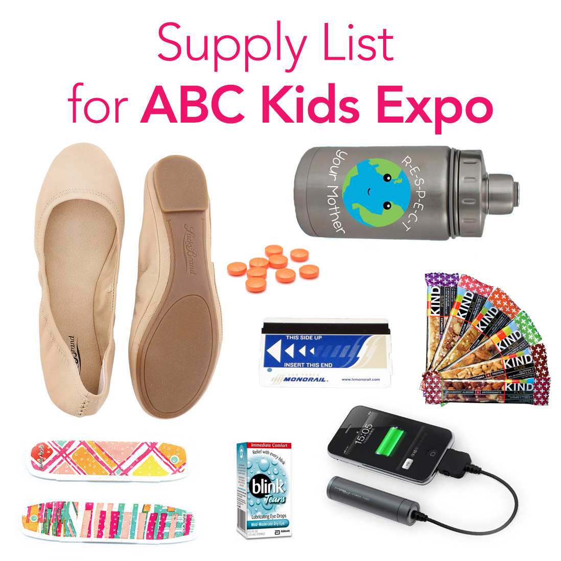 ABC Kids Expo survival list