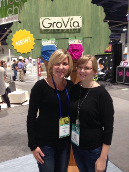 Kim Ormsby, owner of Gro-Via, and myself at ABC Kids Expo 2014