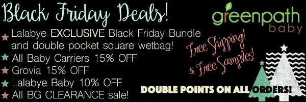 2015 Black Friday Baby Carrier and Diaper Sale GreenPath Baby