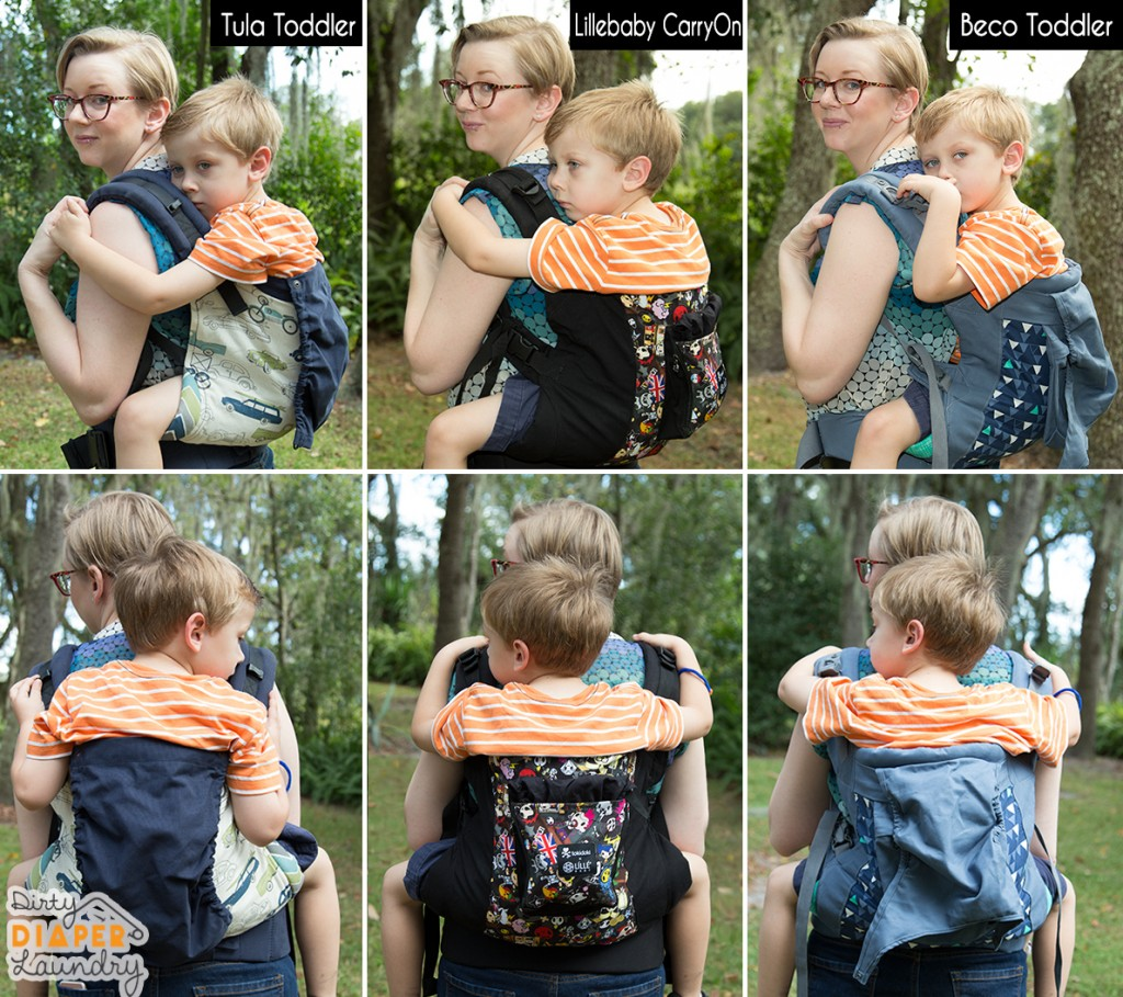 Comparison of Lillebaby, Tule, and Beco toddler carriers