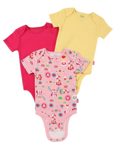 """Grow and Inch"" Onesies by Disney will fit over cloth diapers better than traditional sizes"