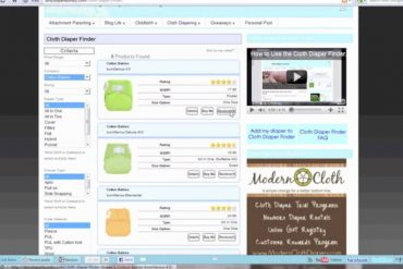The Cloth Diaper Finder- New Review System and Improvements