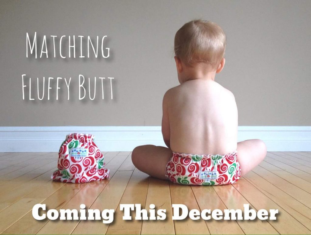 Pregnancy announcement with cloth diapers