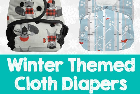 Festive winter and holiday themed cloth diapers- perfect for photos or gifts