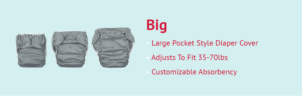 Cloth Diapering Beyond- Bigger Sizes for Bigger Kids + Special Needs