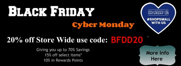 Black Friday with code banner
