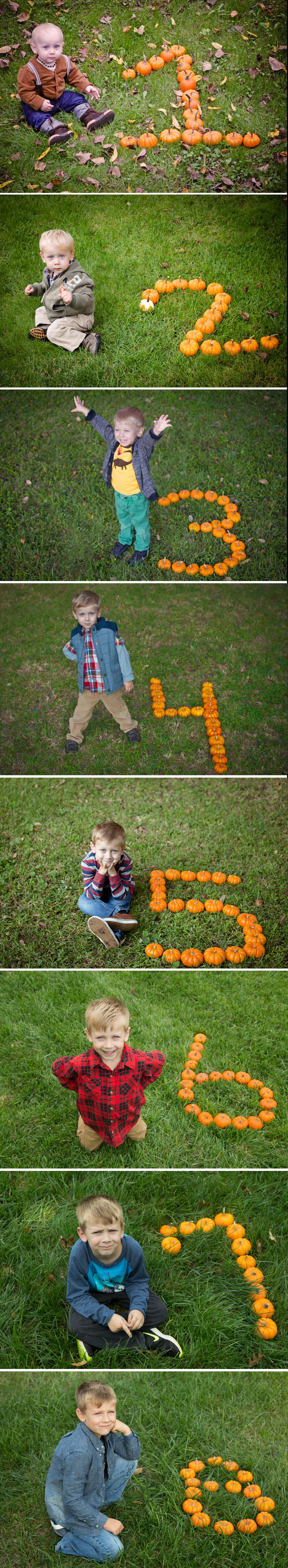 Yearly Pumpkin Birthday Photos | Photo Project Idea