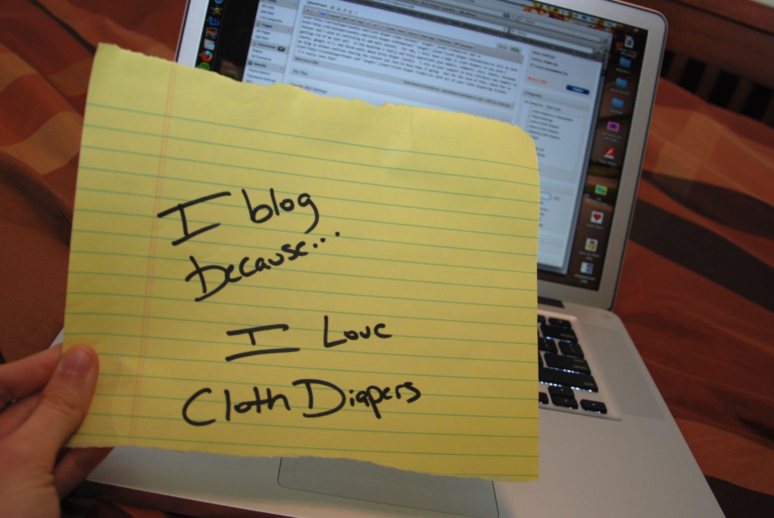I blog because I love cloth diapers