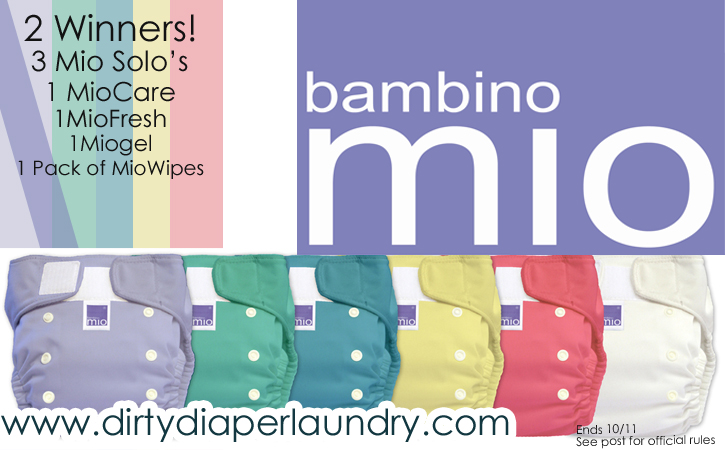 Bambino Mio- Mio Solo prize pack giveaway from Dirty Diaper Laundry