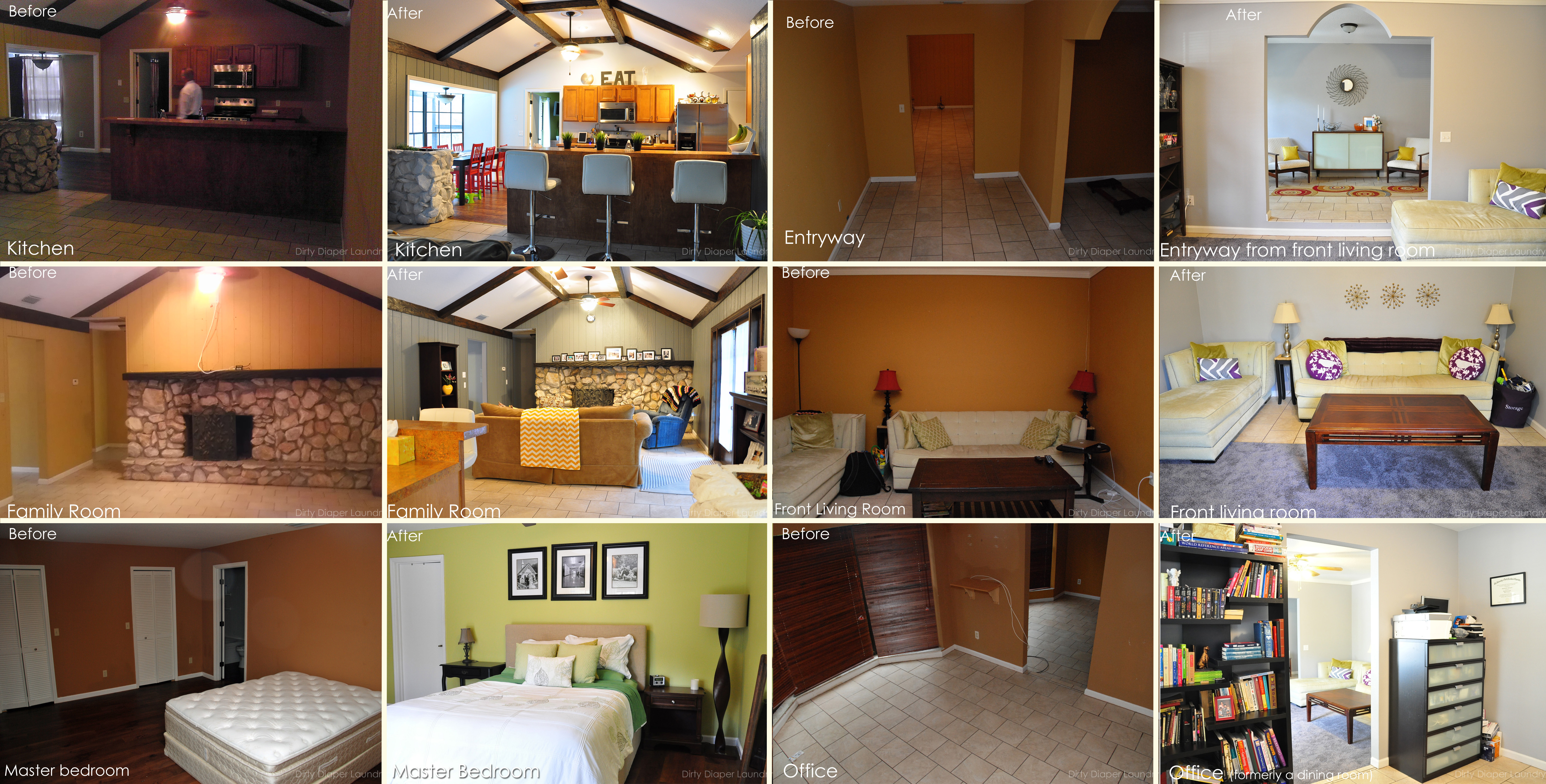 Before and After Rooms