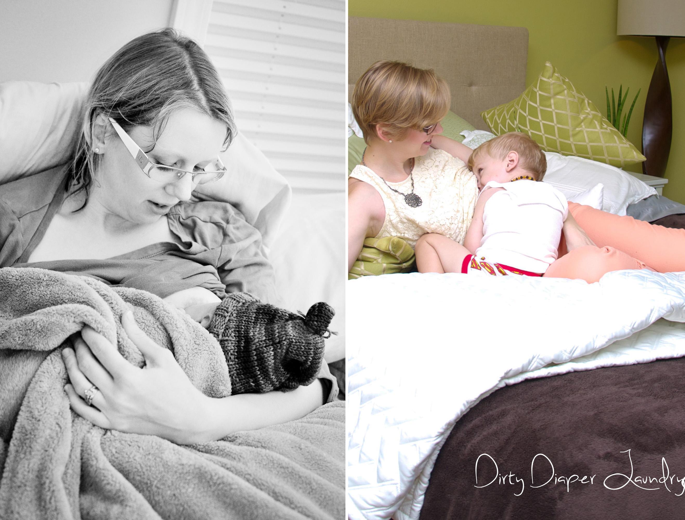 Nursing a newborn and a toddler