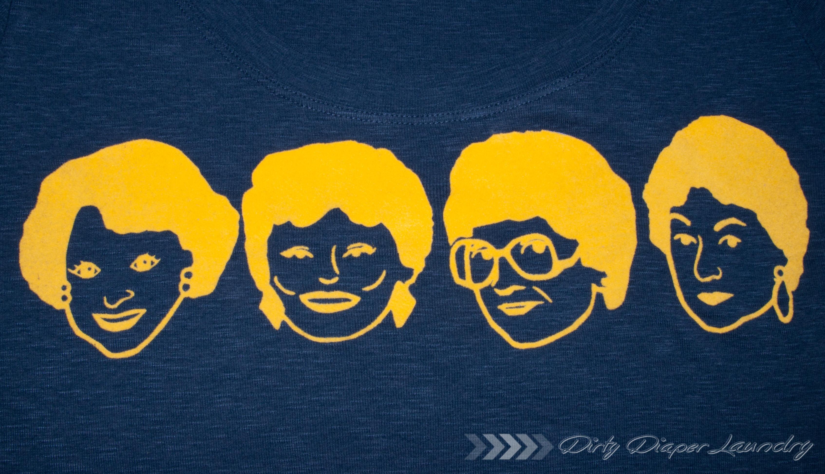Golden Girls T-shirt DIY