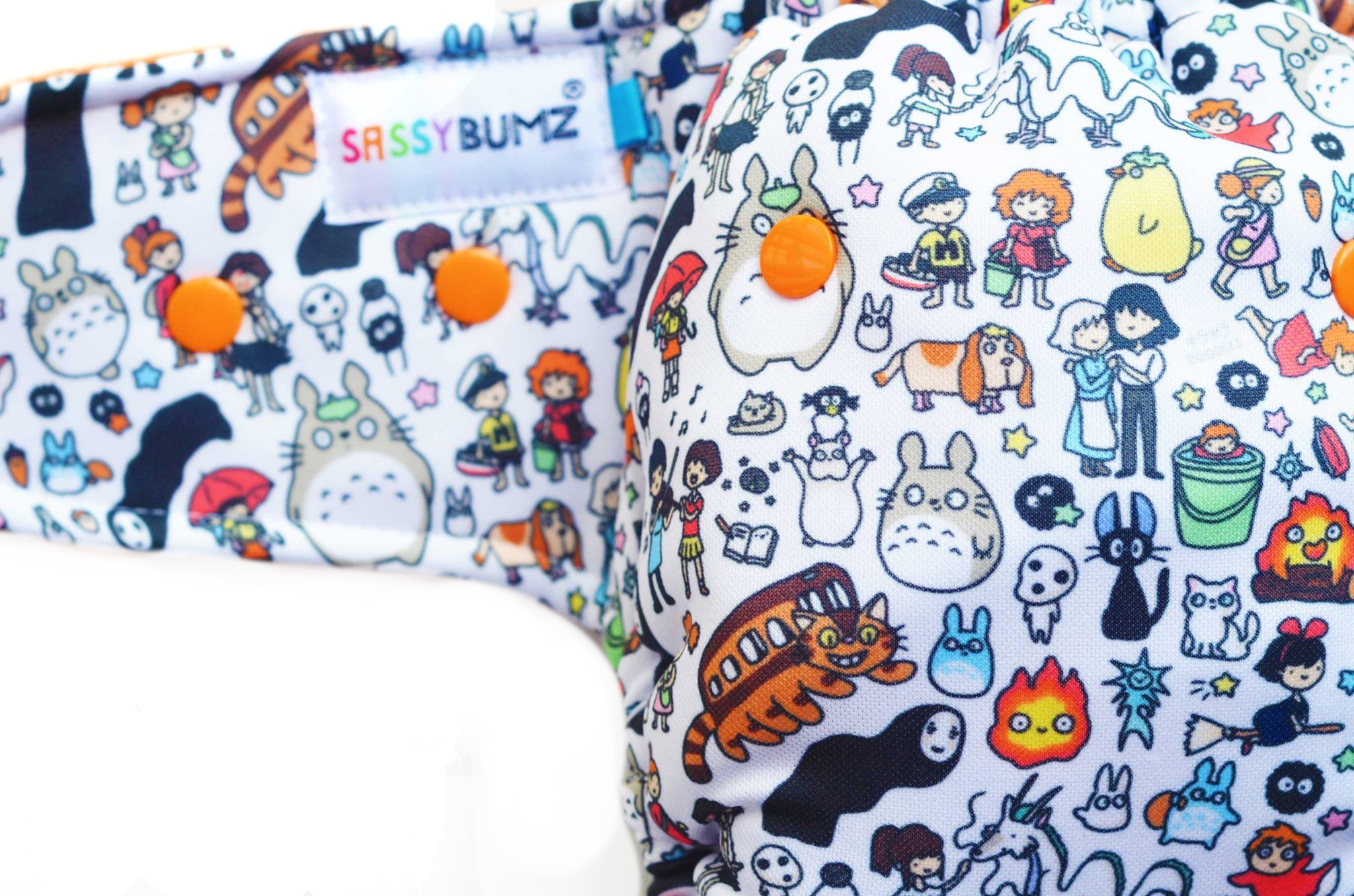 Studio Ghibli cloth diaper by Sassy Bumz