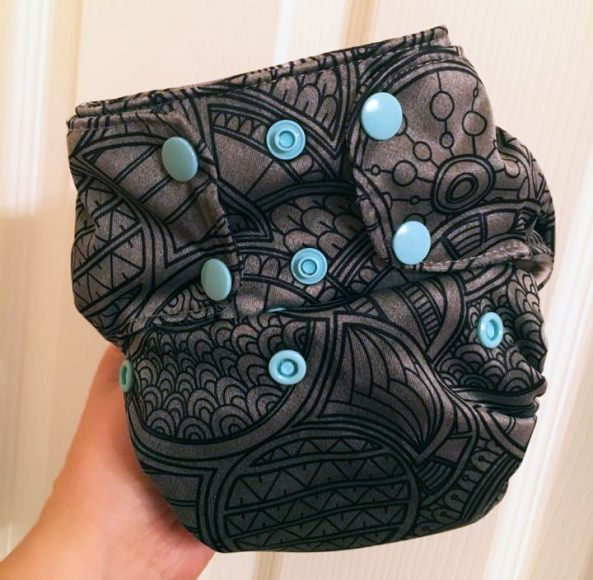 A classy two-toned black Doo-dle using tulip markers by Danelle Himango.